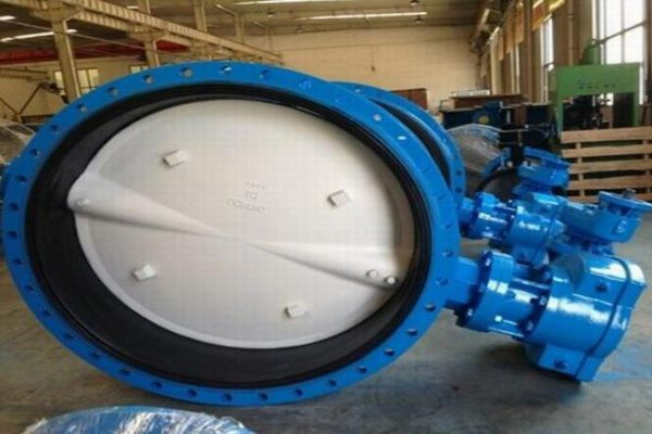 Electrically ventilated butterfly valve